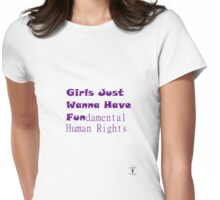 FUNdamental Human Rights Womens Fitted T-Shirt