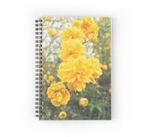 Double Flower Japanese Rose Spiral Notebook