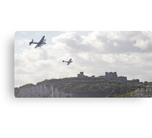 Spitfire and Hurricane over Dover Castle  Canvas Print