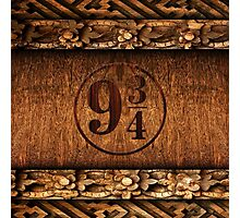 Platform 9 and 3 Quarters Wood Texture Photographic Print