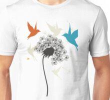 Birds a flower Unisex T-Shirt