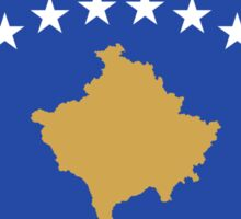Kosovo Flag Map Sticker