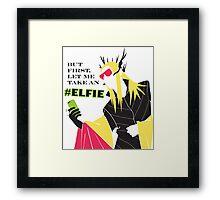 #Elfie Framed Print