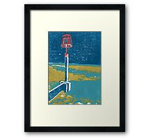 Seaview Fire Beacon in Turquoise Framed Print