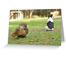 Hen and Friend Greeting Card