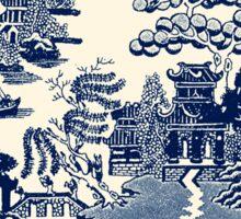 China Blue Willow Sticker