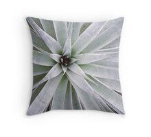 Silver Bromeliad Throw Pillow