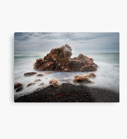 Rocks on a windy day, Boat Harbour, Tasmania Metal Print