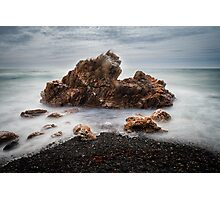 Rocks on a windy day, Boat Harbour, Tasmania Photographic Print