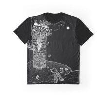 Burning Tower Prayer Graphic T-Shirt