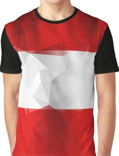Low poly red and white fashion style texture Graphic T-Shirt