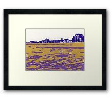 Seaview Kingsway in Purple Framed Print