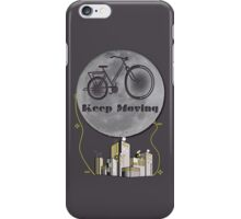 Moon Keep Moving Bicycle iPhone Case/Skin