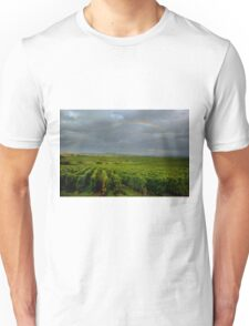 Rainbow over the vineyards in Alsace Unisex T-Shirt