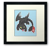 Toothless! Framed Print