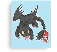 Toothless! Canvas Print