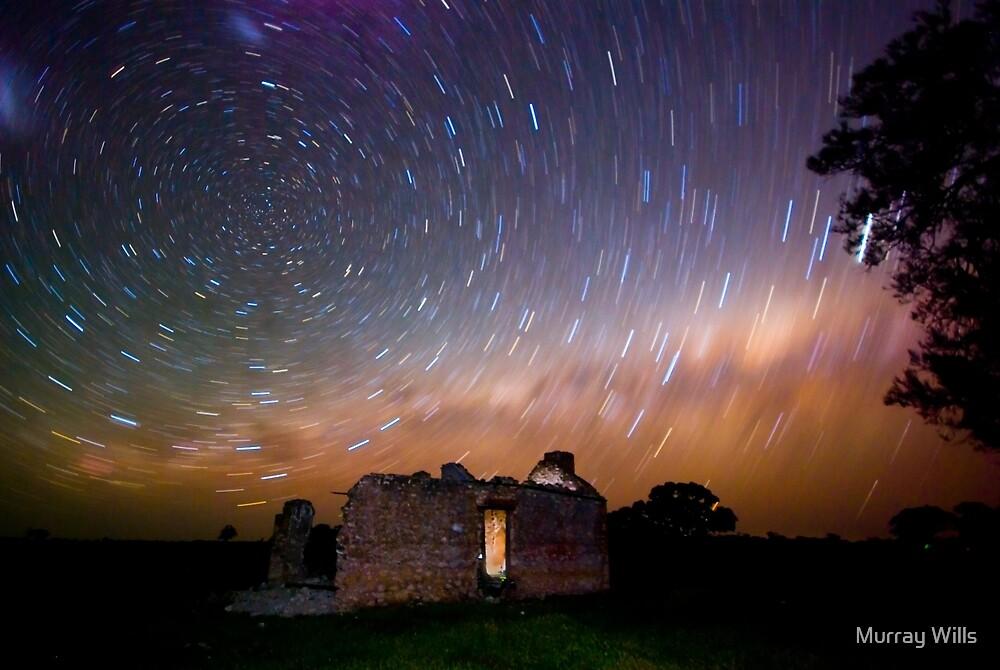 Star trail Barras Homestead # 2 by Murray Wills