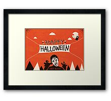 Weeping Angel - Halloween Card Framed Print