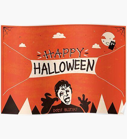 Weeping Angel - Halloween Card Poster