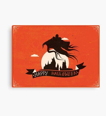 Dementor - HP Halloween Card Canvas Print