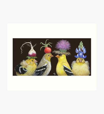 Goldfinch Family Art Print