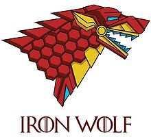 HOUSE STARK - IRON WOLF by seteki