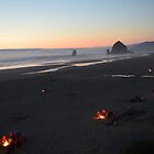 Cannon Beach Campfires by Dani LaBerge