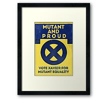 Mutant and proud campaign  Framed Print