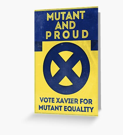 Mutant and proud campaign  Greeting Card