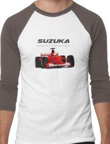 F1 Legend #3 - Ferrari F1-2000 Men's Baseball ¾ T-Shirt
