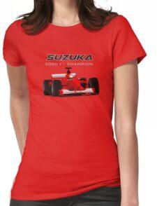 F1 Legend #3 - Ferrari F1-2000 Womens Fitted T-Shirt
