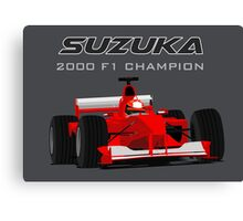 F1 Legend #3 - Ferrari F1-2000 Canvas Print