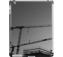 Construction cranes iPad Case/Skin