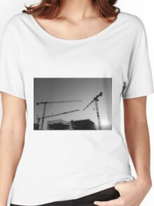 Construction cranes Women's Relaxed Fit T-Shirt