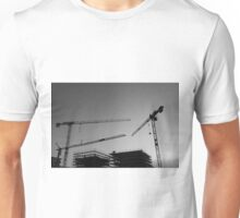 Construction cranes Unisex T-Shirt