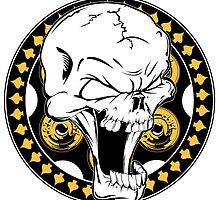Gold Revolver Skull by endurdog