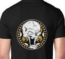 Gold Revolver Skull Unisex T-Shirt