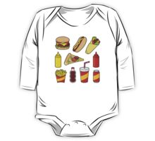 Fast food icons One Piece - Long Sleeve