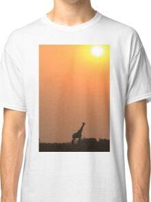Giraffe Solitude of Gold - African Wildlife Classic T-Shirt