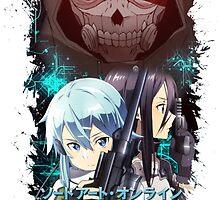 Sword Art Online 2 - Kirito, Sinon, Death Gun Blue Version by Onimihawk