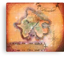 Neverland Map Blanket Full Color King Size Canvas Print