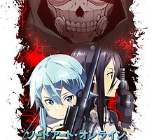 Sword Art Online 2 - Kirito, Sinon, Death Gun Red Version by Onimihawk