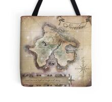 Classic Neverland Map Blanket King Size Tote Bag