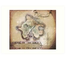Classic Neverland Map Blanket King Size Art Print