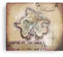 Classic Neverland Map Blanket King Size Metal Print
