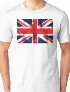Union Jack low poly pixcel flag texture Unisex T-Shirt