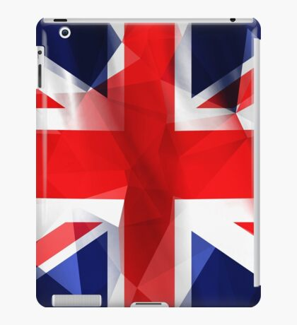 Union Jack low poly pixcel flag texture iPad Case/Skin
