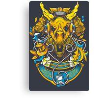 Golden Tricerapod Canvas Print