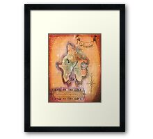 Twin Size Neverland Map Framed Print