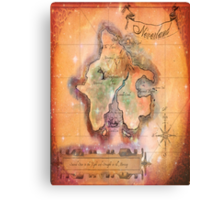 Twin Size Neverland Map Canvas Print